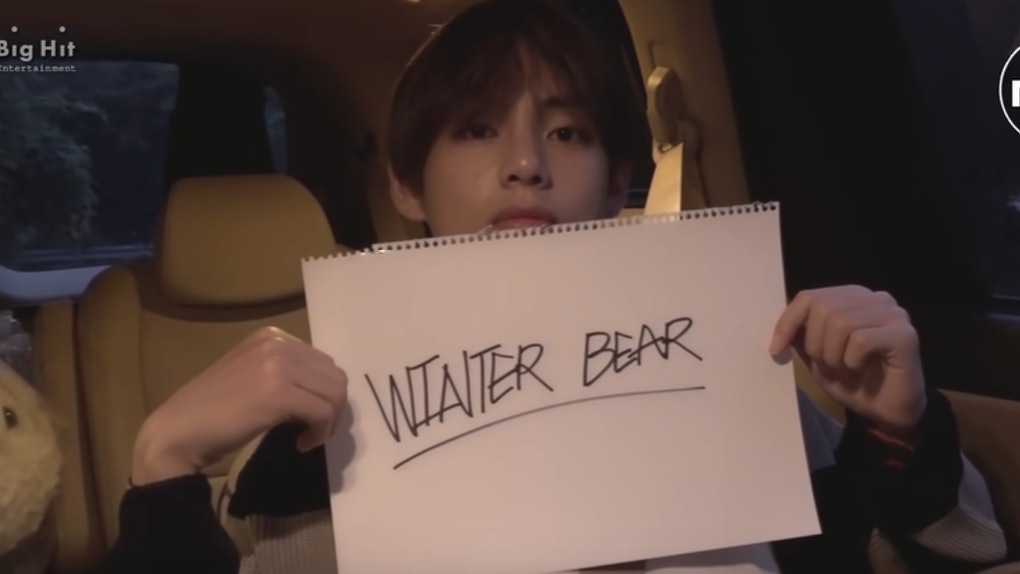 this video of bts 39 v shooting the winter bear cover is. Black Bedroom Furniture Sets. Home Design Ideas
