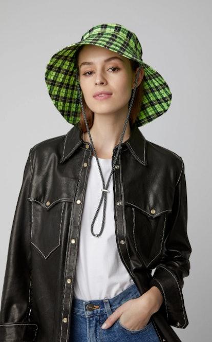 Plaid Seersucker Hat