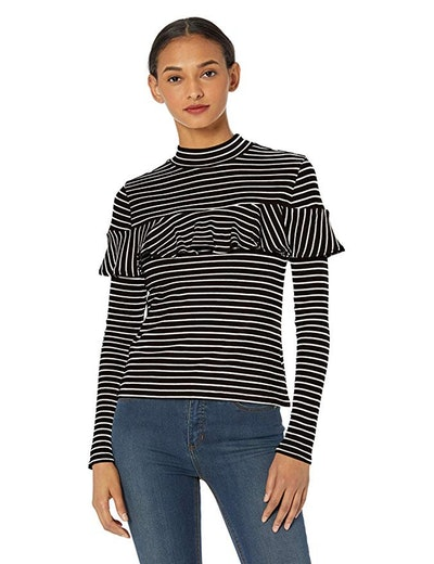 Jack Women's Worth The Stripe Rib Knit Long Sleeve Shirt