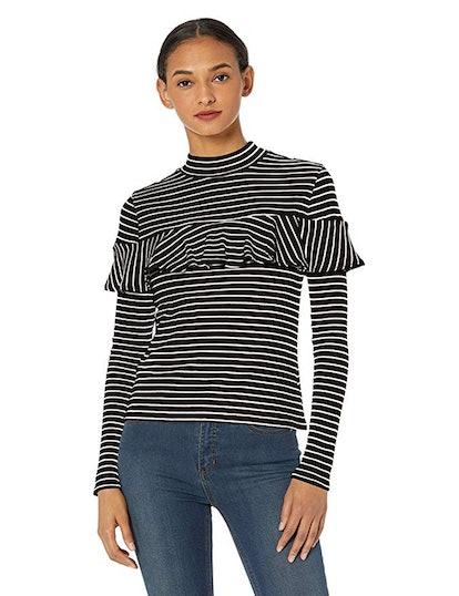 Jack Women's Worth The Stripe Rib Knit Long Sleeve Shirt