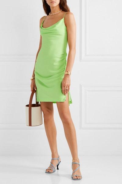 Tarte Ruched Crepe Mini Dress