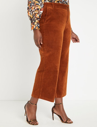 "Corduroy Flare Leg Pant in ""Malbec"""