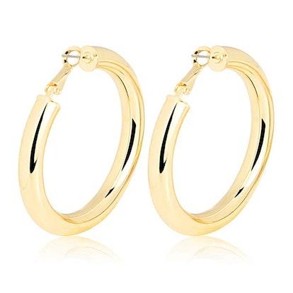 Me & Hz Fashion Gold Silver Hoop Earrings