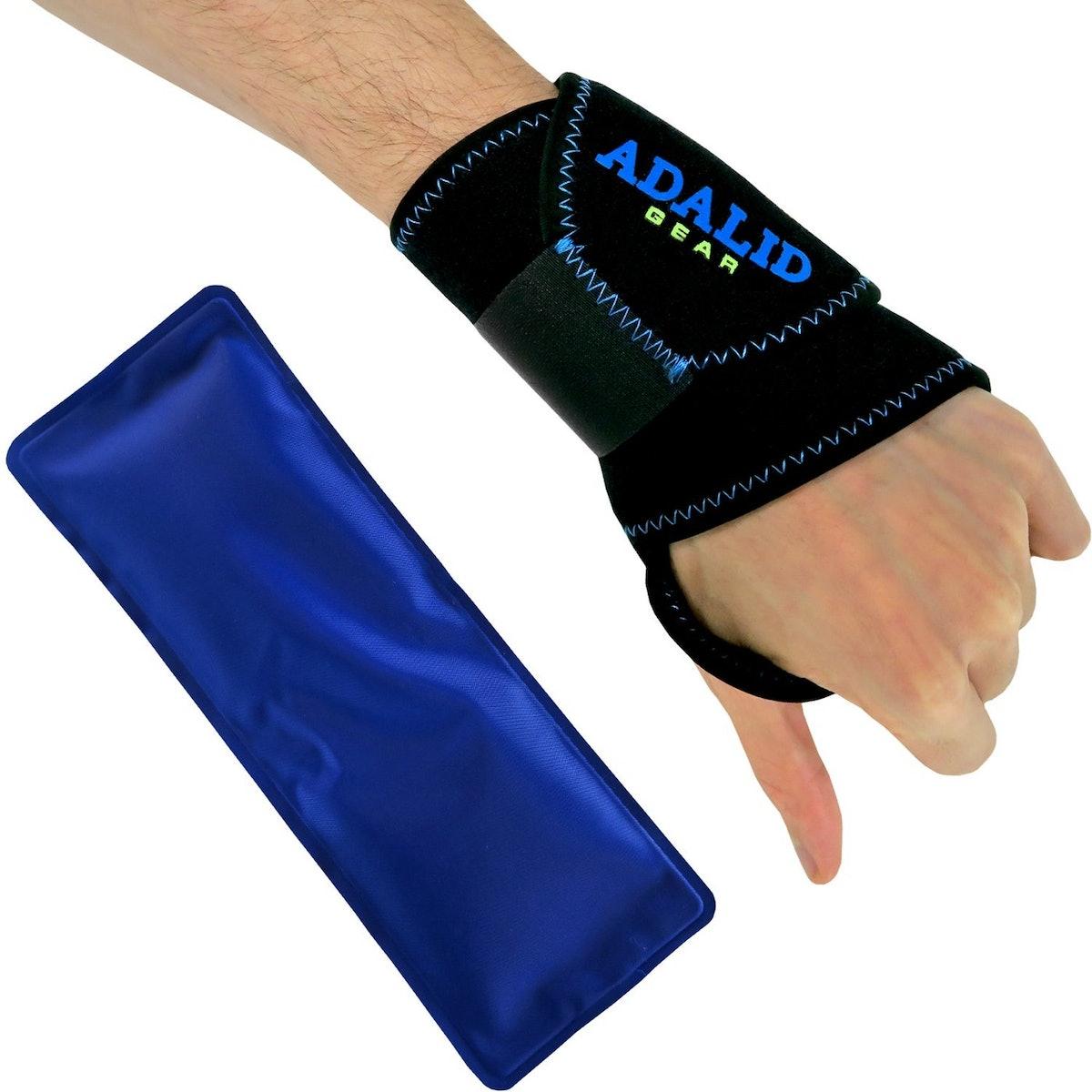 Adalid Gear Wrist Ice Gel Pack with Support Brace
