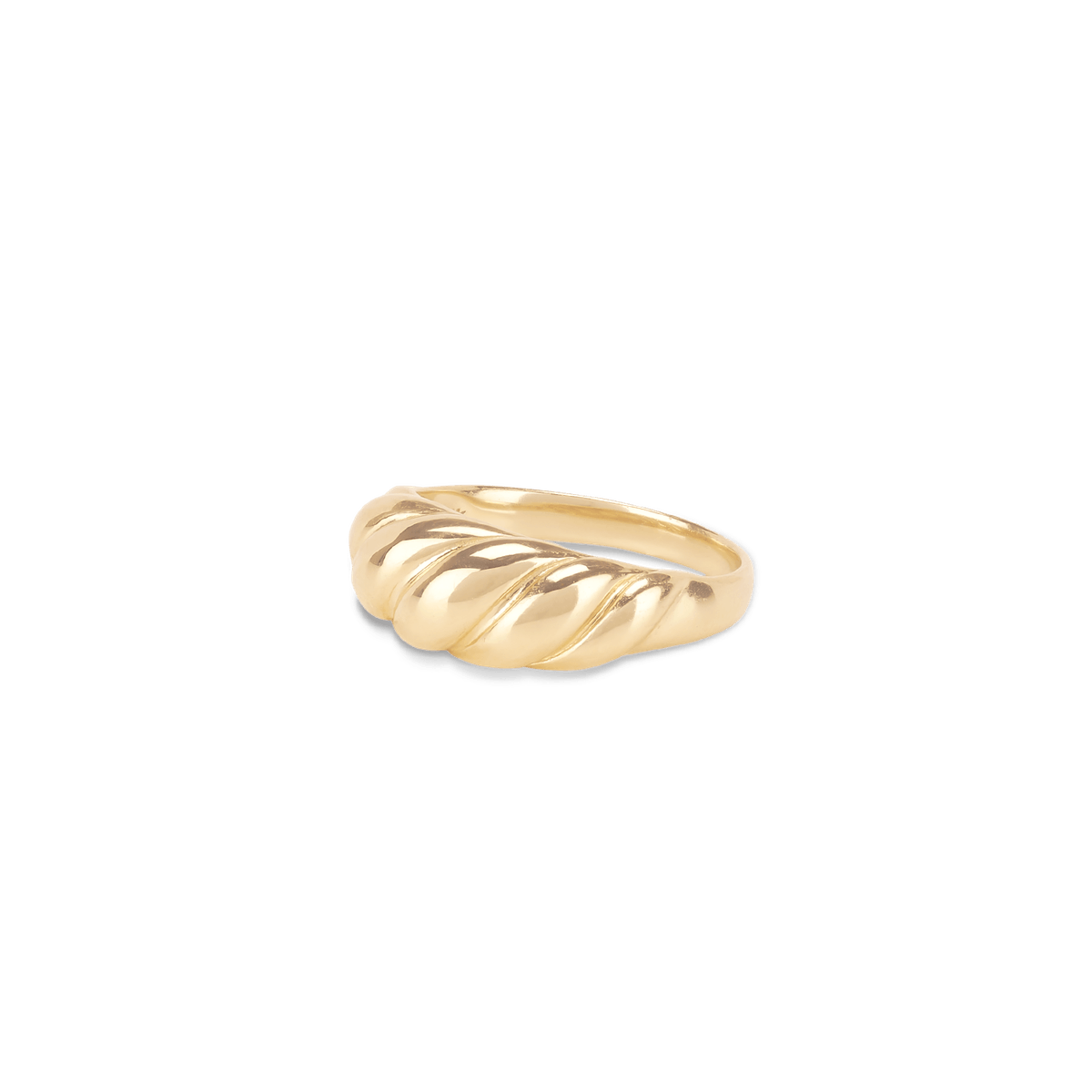 Thin Croissant Dôme Pinky Ring in 14K Gold