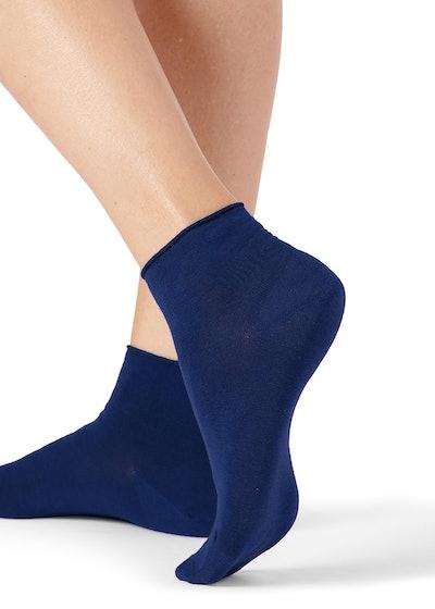 Extra-Short Bandless Cotton Socks
