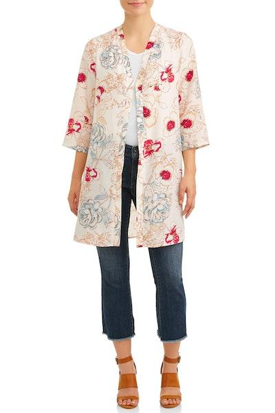 Love Sadie Women's Floral Duster Kimono