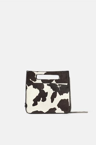 Animal Print Leather Crossbody Bag