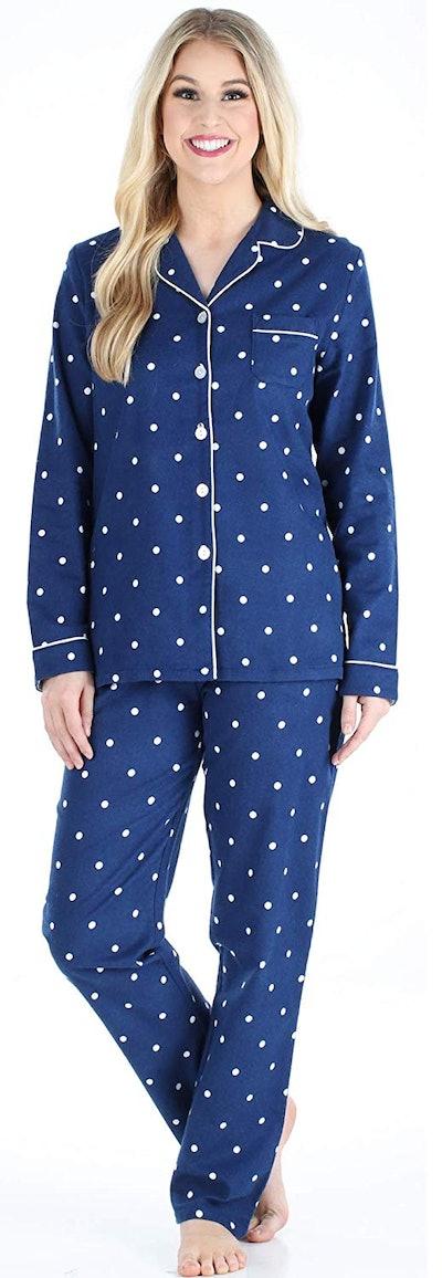 PajamaMania Cotton Flannel Long Sleeve PJ Set