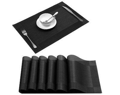 U'Artlines Crossweave Vinyl Placemats (Set Of 6)
