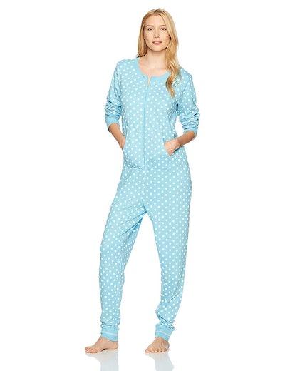 Mae Sleepwear Vintage Thermal Loose Fit Onesie