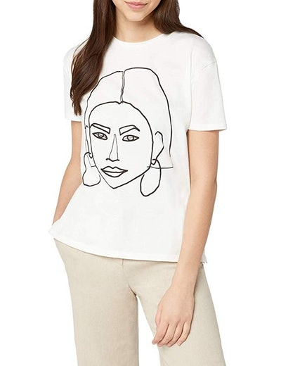 find. Women's Face Print Crew Neck T-Shirt