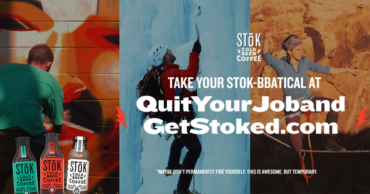 SToK Cold Brew's Sabbatical Giveaway Is Paying 3 People $30,000 To Go On Their Dream Vacay