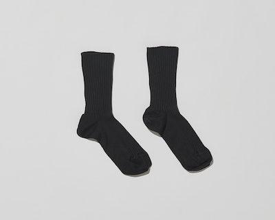 Silk Rib Ankle Socks
