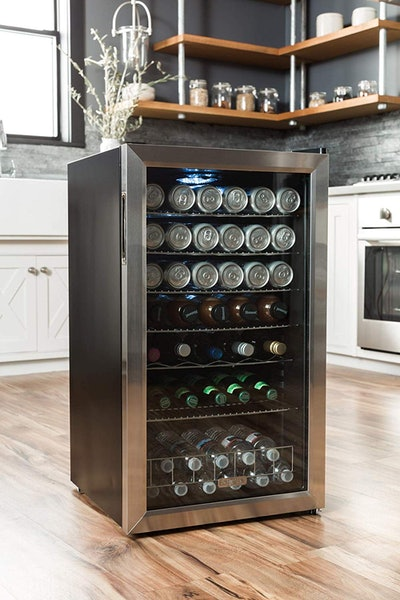 EdgeStar BWC120SSLT Freestanding Beverage Cooler