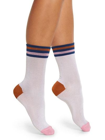 Lona Stripe Crew Socks