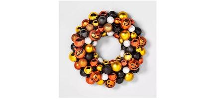 Halloween Jack-O-Lantern Decorative Wreath