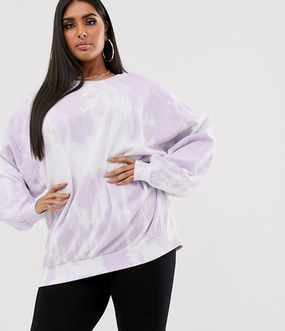 New Girl Order Curve oversized sweatshirt in pastel tie dye