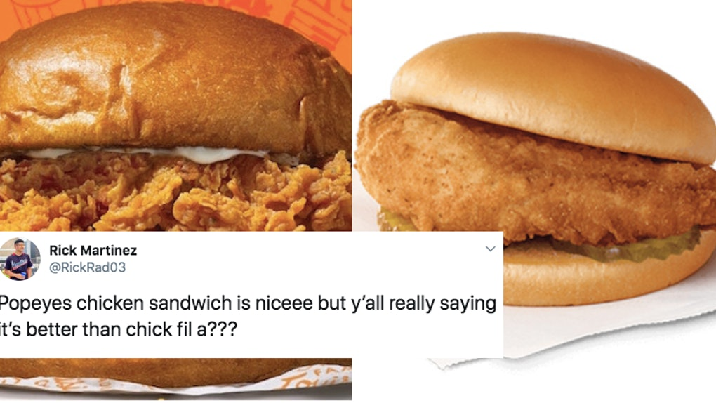 These Popeyes Vs Chick Fil A Memes Keep The Chicken Sandwich