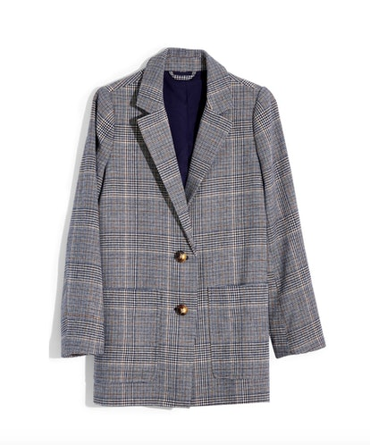 Madewell Dorset Navy Glen Plaid Blazer