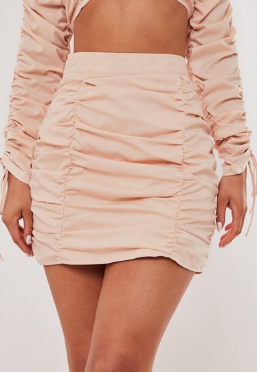 Blush Co Ord Ruched Mini Skirt