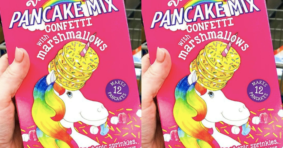 Aldi's Unicorn Pancake Mix Is Filled With Sprinkles & Marshmallows