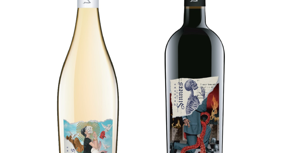 Prayers Of Sinners & Saints' Halloween-Themed Wine Comes With A Spooky Glowing Label