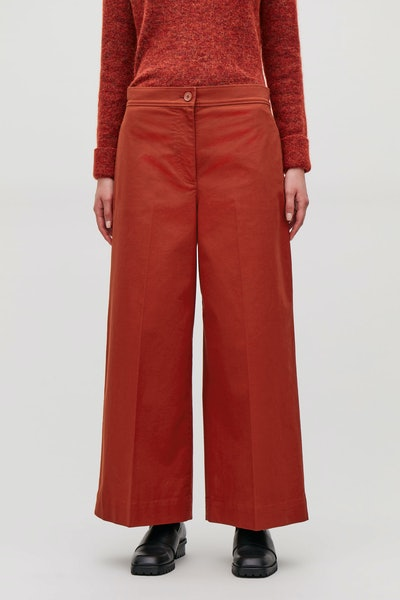 Structured Wide-Leg Trousers