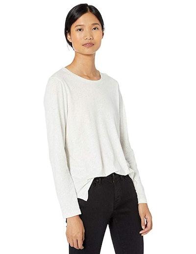 Goodthreads Women's Washed Jersey Cotton Long-Sleeve Crewneck T-Shirt