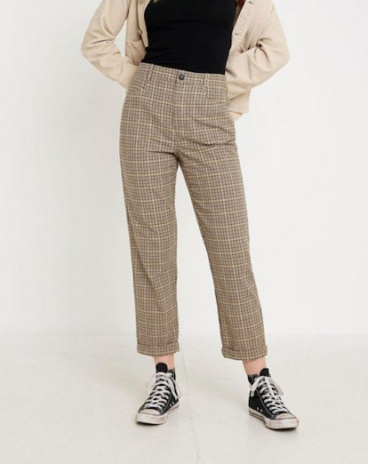 UO Plaid Slim Cigarette Pant