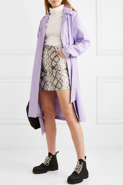 Matte-Pu Trench Coat
