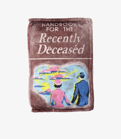 BEETLEJUICE HANDBOOK FOR THE RECENTLY DECEASED PILLOW