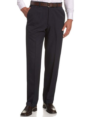 Haggar Men's Cool 18 Hidden Expandable-Waist Plain-Front Pant