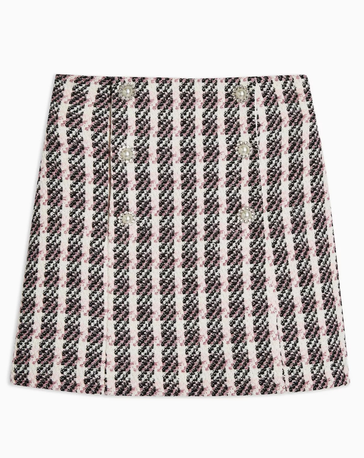 Pink Boucle Mini Skirt