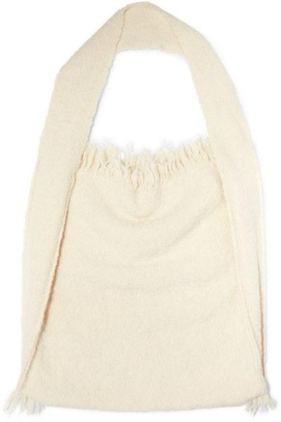 Lauren Manoogian Bindle fringed alpaca and wool-blend shoulder bag
