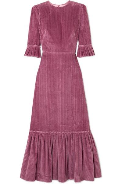 The Vampire's Wife Festival ruffled cotton-corduroy maxi dress