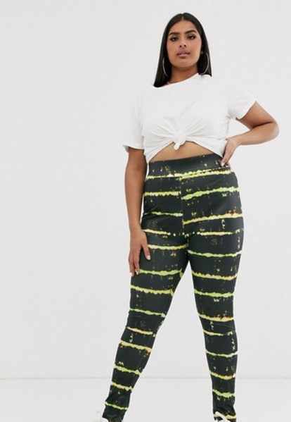 New Girl Order Curve disco leggings in tie dye print