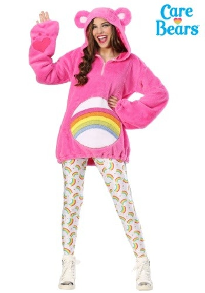 CARE BEARS DELUXE PLUS SIZE CHEER BEAR WOMEN'S HOODIE COSTUME