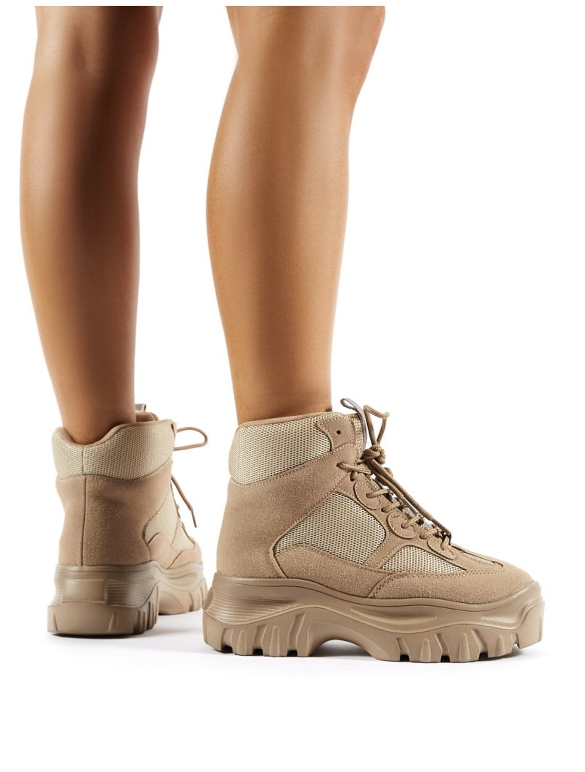 Ironic Sand Chunky Sole Ankle Boots