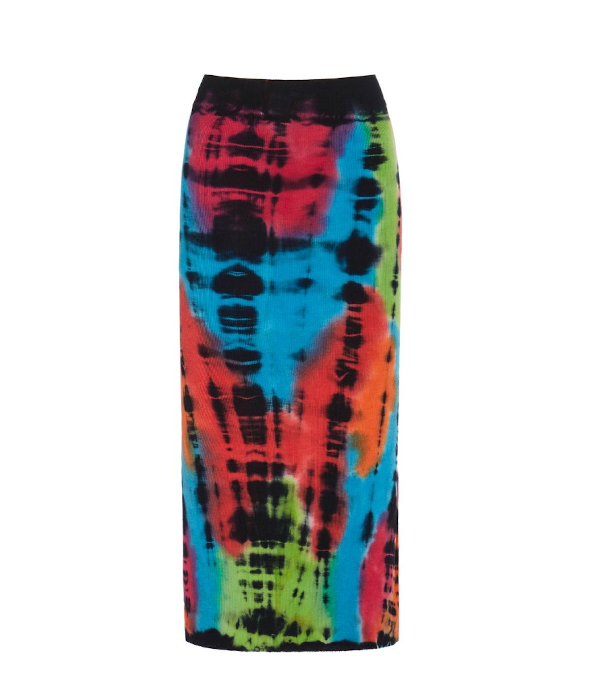 Click Product to Zoom Cotton Citizen Exclusive Melbourne Tie-Dye Cotton Midi Skirt