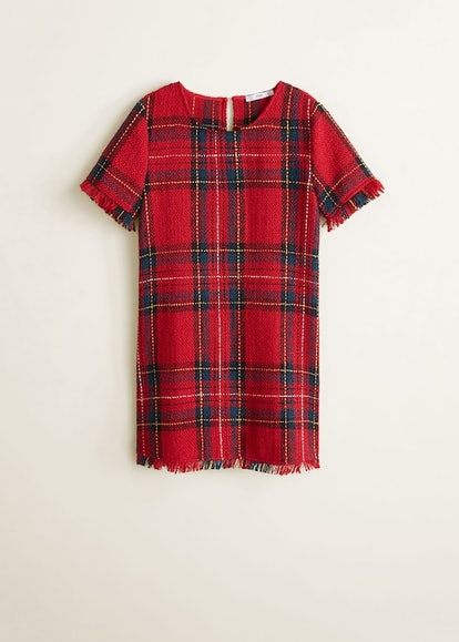 Plaid tweed dress