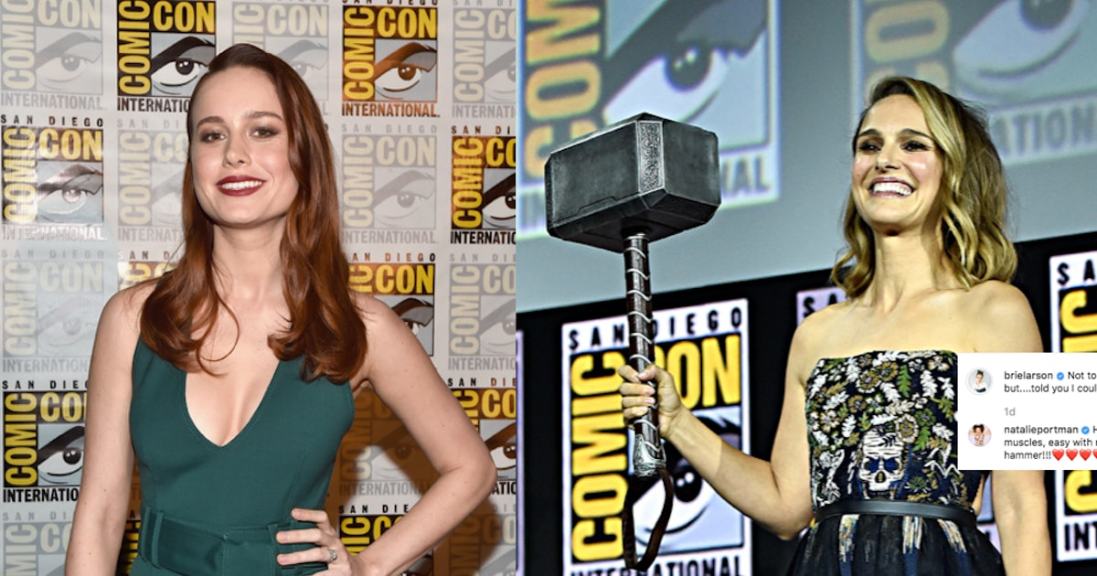 Natalie Portman & Brie Larson Are Laying Claim On Thor's Hammer — PHOTO