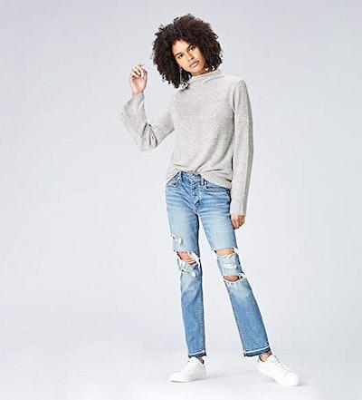 find. Women's Soft High Neck Long Sleeve Sweater