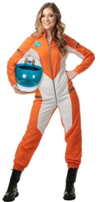 WOMEN'S PLUS SIZE ASTRONAUT JUMPSUIT COSTUME