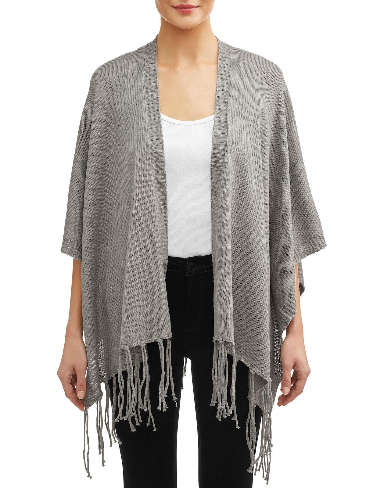 Love Sadie Women's Fringe Wrap Sweater
