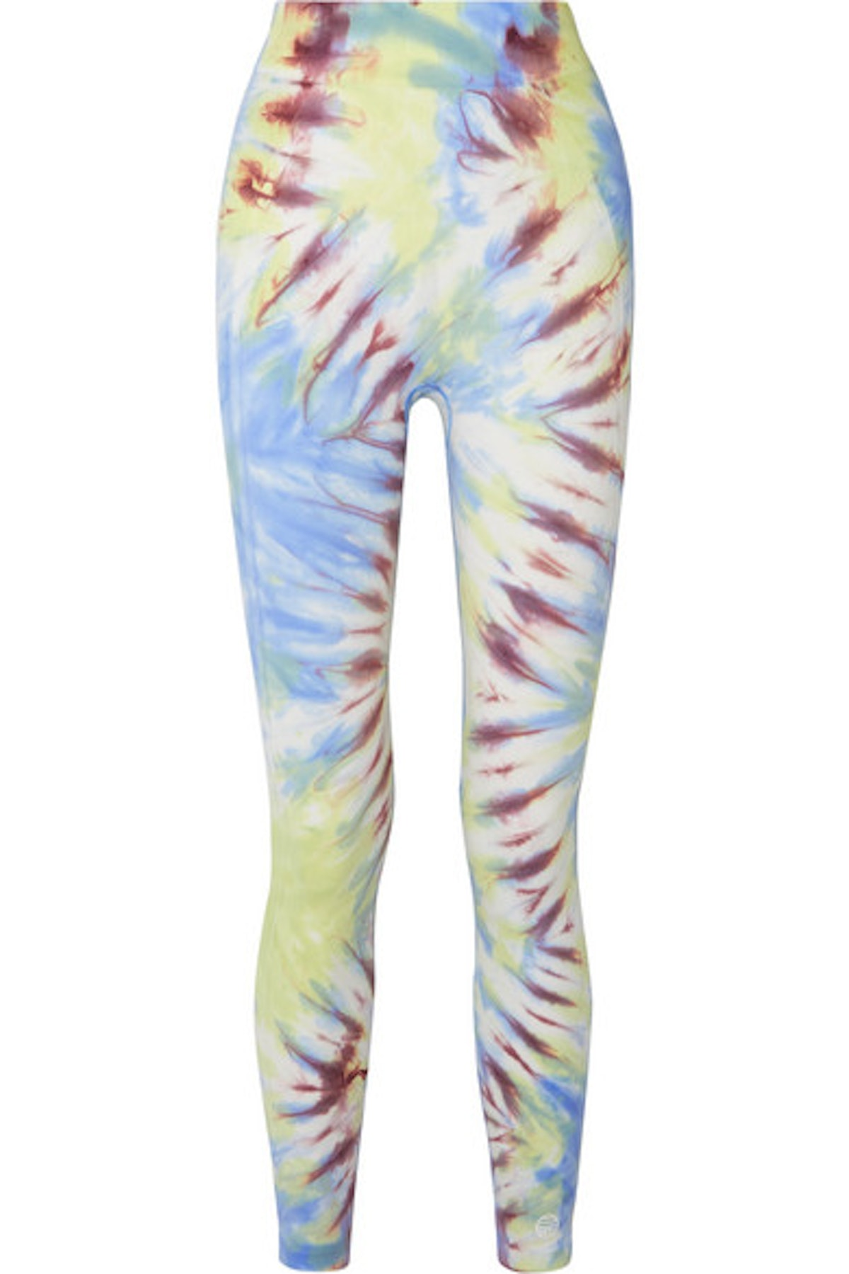 TORY SPORT Tie-dyed stretch-jersey leggings
