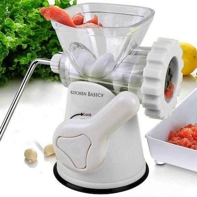 Kitchen Basics Manual Meat and Vegetable Grinder