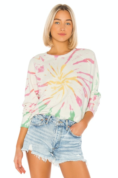 Daydreamer X REVOLVE Tie Dye Varsity Crew Sweatshirt