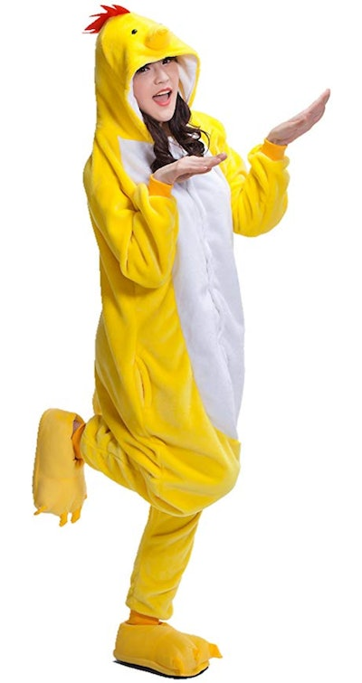Adult Chicken Kigurumi Animal Costume Pajamas
