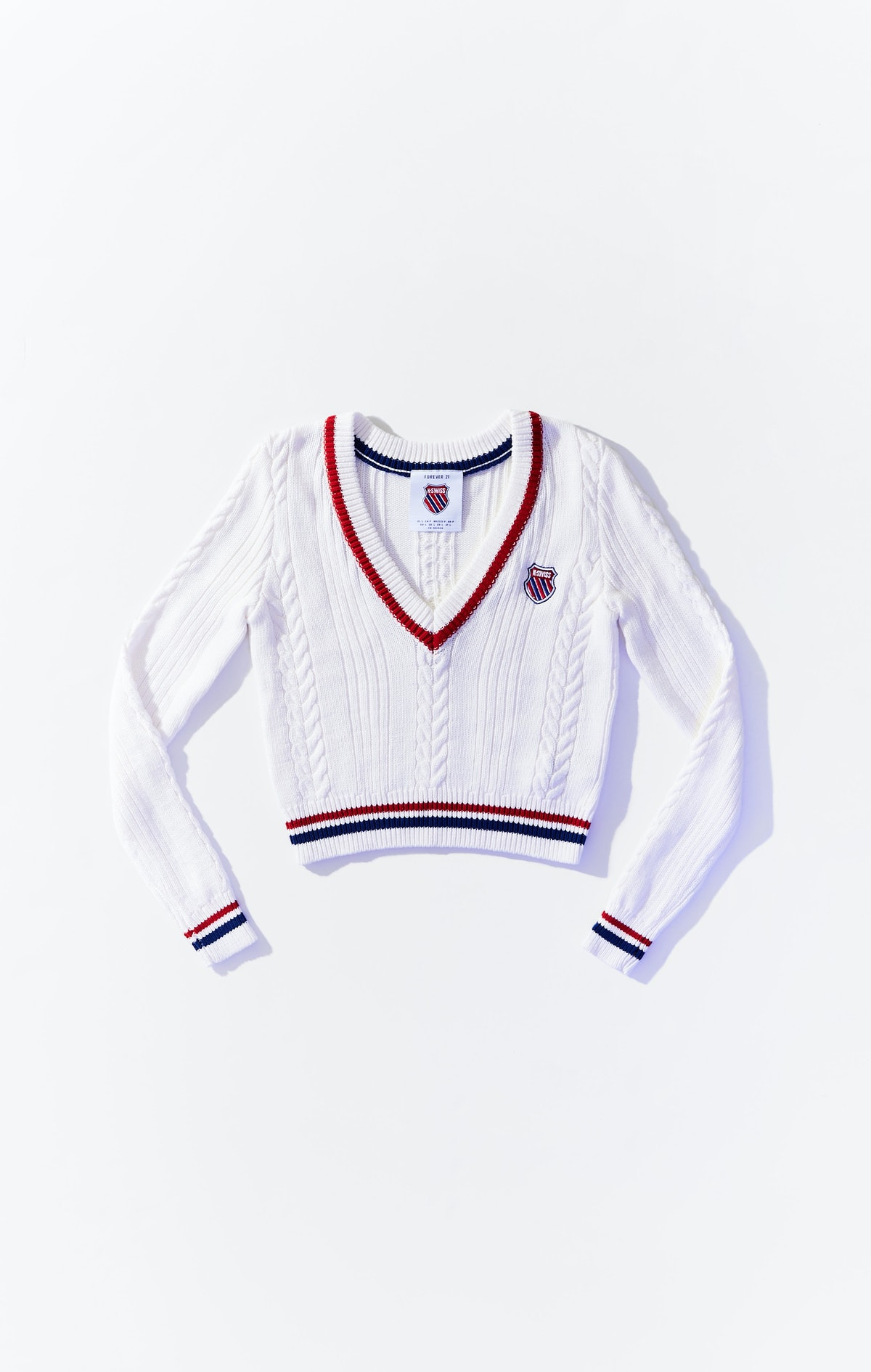 Forever 21 x K-Swiss Cable-Knit Sweater